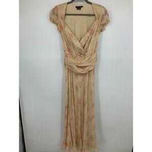 Ralph Lauren blue label 4 dress silk maxi floral